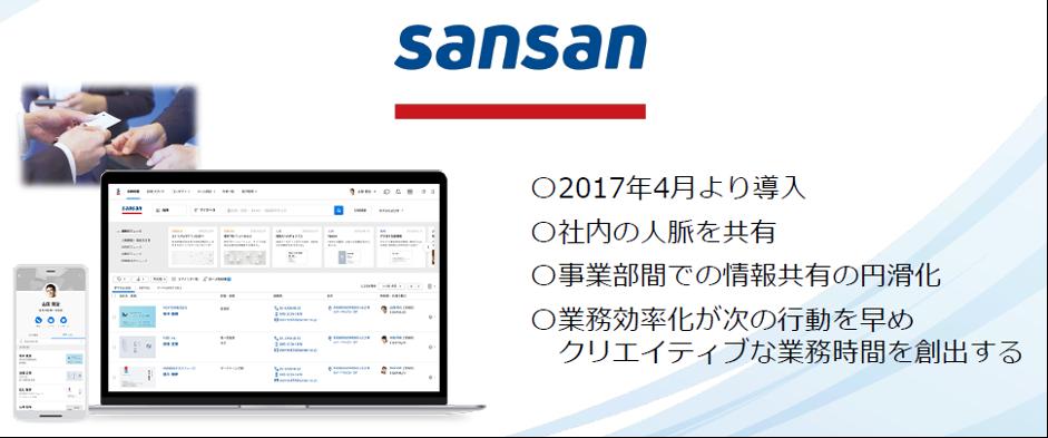 初めてのクラウドサービス導⼊「sansan」